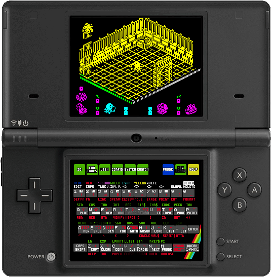 ZXDS running on Nintendo DS.